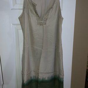 Banana Republic sleeveless silk dress